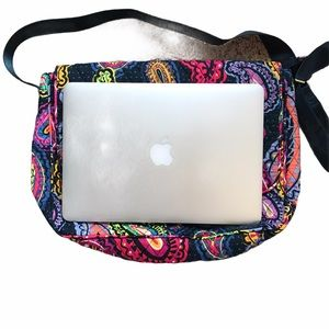 Vera Bradley paisley print computer brief case bag